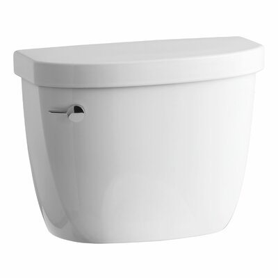 Cimarron 1.28 GPF High Efficiency Toilet Tank with Aquapiston Flush Technology, Insuliner Tank Liner and Tank Locks Finish: White