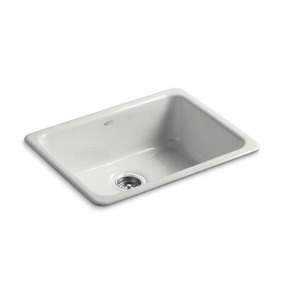 Iron Tones 24-1/4 x 18-3/4 x 8-1/4 Top-Mount/Under-Mount Single-Bowl Kitchen Sink Finish: Sea Salt