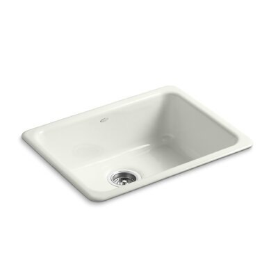 Iron/Tones 24-1/4 x 18-3/4 x 8-1/4 Top-Mount/Under-Mount Single-Bowl Kitchen Sink Finish: Dune