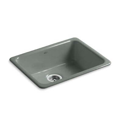 Iron/Tones 24-1/4 x 18-3/4 x 8-1/4 Top-Mount/Under-Mount Single-Bowl Kitchen Sink Finish: Basalt