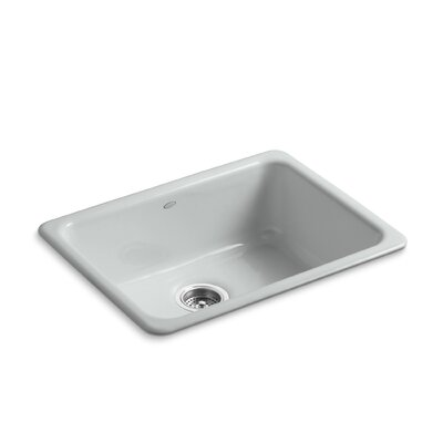 Iron/Tones 24-1/4 x 18-3/4 x 8-1/4 Top-Mount/Under-Mount Single-Bowl Kitchen Sink Finish: Ice Grey
