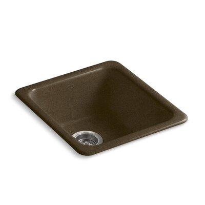 Iron/Tones 17 x 18-3/4 x 8-1/4 Top-Mount/Under-Mount Single-Bowl Kitchen Sink Finish: Black n Tan