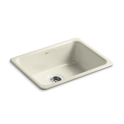 Iron Tones 24-1/4 x 18-3/4 x 8-1/4 Top-Mount/Under-Mount Single-Bowl Kitchen Sink Finish: Cane Sugar