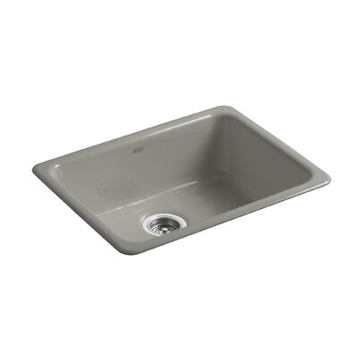 Iron/Tones 24-1/4 x 18-3/4 x 8-1/4 Top-Mount/Under-Mount Single-Bowl Kitchen Sink Finish: Cashmere
