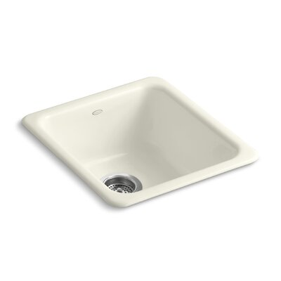 Iron/Tones 17 x 18-3/4 x 8-1/4 Top-Mount/Under-Mount Single-Bowl Kitchen Sink Finish: Biscuit