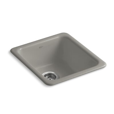 Iron/Tones 17 x 18-3/4 x 8-1/4 Top-Mount/Under-Mount Single-Bowl Kitchen Sink Finish: Cashmere