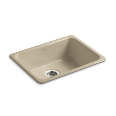 Iron Tones 24-1/4 x 18-3/4 x 8-1/4 Top-Mount/Under-Mount Single-Bowl Kitchen Sink Finish: Mexican Sand