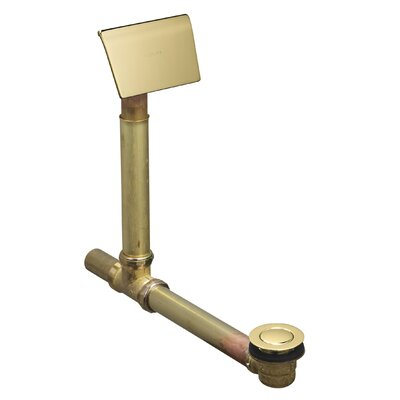 Clearflo 1-1/2 Adjustable 5.88 Leg Tub Bathroom Sink Drain With Overflow Finish: Vibrant Polished Brass