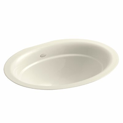 Serif Oval Undermount Bathroom Sink Sink Finish: Almond