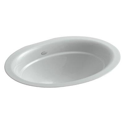 Serif Oval Undermount Bathroom Sink Sink Finish: Ice Grey