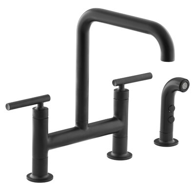 Purist Deck Mount Kitchen Sink Faucet Finish: Matte Black