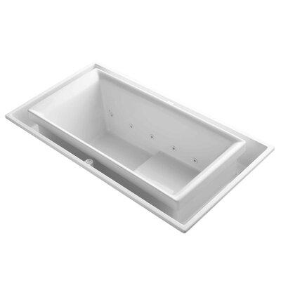 Sok 75 x 41 Whirlpool Bathtub Finish: White