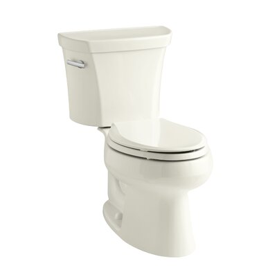 Wellworth Two-Piece Elongated 1.28 GPF Toilet with Class Five Flush Technology, Left-Hand Trip Lever and Insuliner Tank Liner Finish: Biscuit