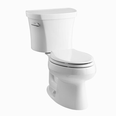 Wellworth Two-Piece Elongated 1.28 GPF Toilet with Class Five Flush Technology and Left-Hand Trip Lever Finish: White
