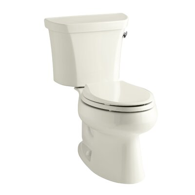 Wellworth Two-Piece Elongated 1.28 GPF Toilet with Class Five Flush Technology, Right-Hand Trip Lever and Insuliner Tank Liner Finish: Biscuit