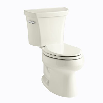 Wellworth Two-Piece Elongated 1.28 GPF Toilet with Class Five Flush Technology, Left-Hand Trip Lever and Tank Cover Locks Finish: Biscuit
