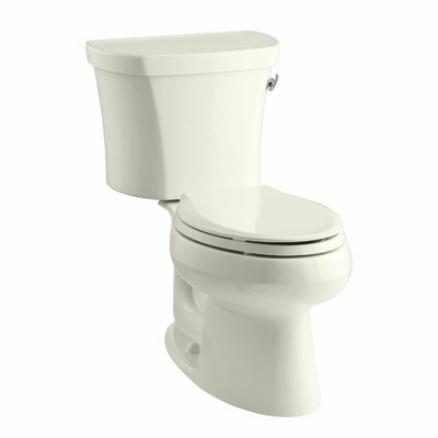 Wellworth Two-Piece Elongated 1.28 GPF Toilet with Class Five Flush Technology, Right-Hand Trip Lever and Tank Cover Locks Finish: Biscuit
