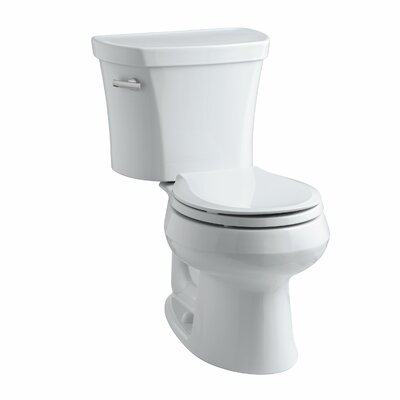 Wellworth Two-Piece Elongated 1.28 GPF Toilet with Class Five Flush Technology, Left-Hand Trip Lever and Insuliner Tank Liner Finish: White