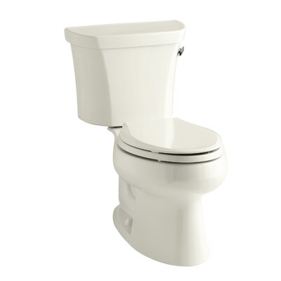 Wellworth Two-Piece Elongated 1.28 GPF Toilet with Class Five Flush Technology and Right-Hand Trip Lever Finish: Biscuit