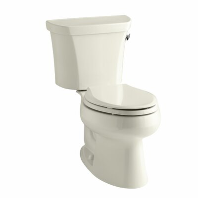 Wellworth Two-Piece Elongated 1.28 GPF Toilet with Class Five Flush Technology and Right-Hand Trip Lever Finish: Almond