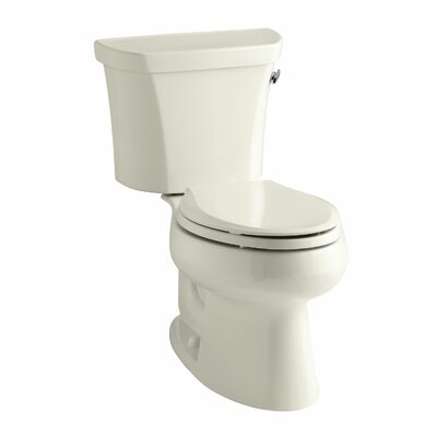 Wellworth Two-Piece Elongated 1.28 GPF Toilet with Class Five Flush Technology, Right-Hand Trip Lever and Insuliner Tank Liner Finish: Almond