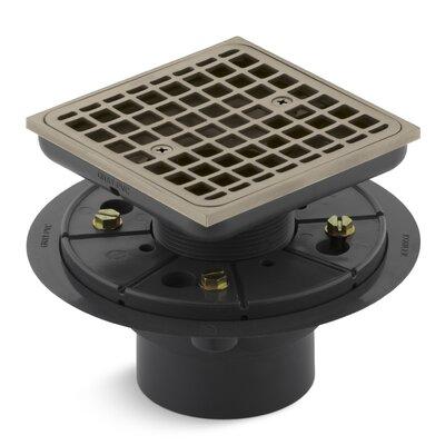 Square Design Tile-In 4.56 Grid Shower Drain Finish: Vibrant Brushed Bronze