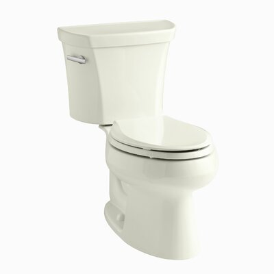 Wellworth Two-Piece Elongated 1.28 GPF Toilet with Class Five Flush Technology and Left-Hand Trip Lever Finish: Biscuit