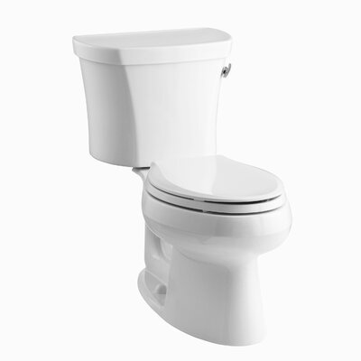 Wellworth Two-Piece Elongated 1.28 GPF Toilet with Class Five Flush Technology and Right-Hand Trip Lever Finish: White