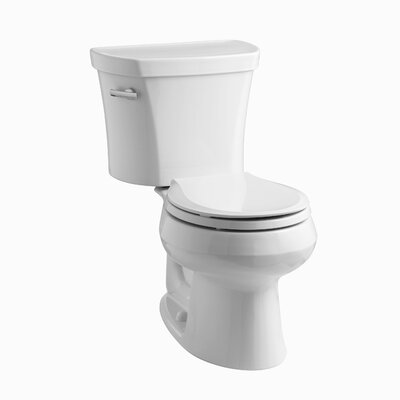 Wellworth Two-Piece Elongated 1.28 GPF Toilet with Class Five Flush Technology, Left-Hand Trip Lever and Tank Cover Locks Finish: White
