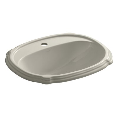 Portrait Self Rimming Bathroom Sink 8 Finish: Sandbar, Faucet Hole Style: Single