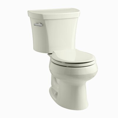 Wellworth Two-Piece Round-Front 1.28 GPF Toilet with Class Five Flush Technology, Left-Hand Trip Lever and Insuliner Tank Liner Finish: Biscuit