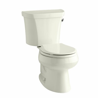 Wellworth Two-Piece Round-Front 1.28 GPF Toilet with Class Five Flush Technology and Right-Hand Trip Lever Finish: Biscuit