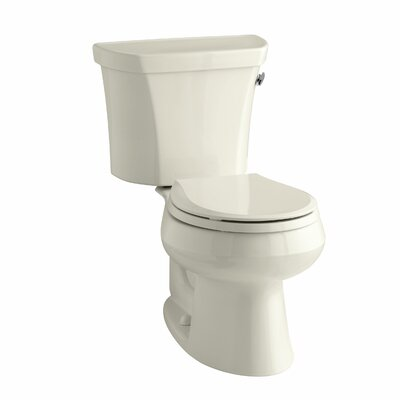 Wellworth Two-Piece Round-Front 1.28 GPF Toilet with Class Five Flush Technology and Right-Hand Trip Lever Finish: Almond
