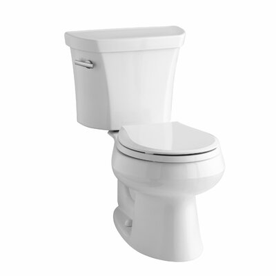 Wellworth 1.28 GPF Round Two-Piece Toilet Finish: White