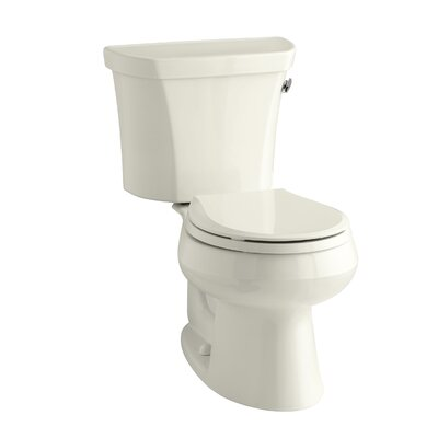 Wellworth Two-Piece Round-Front 1.28 GPF Toilet with Class Five Flush Technology, Right-Hand Trip Lever and Insuliner Tank Liner Finish: Biscuit