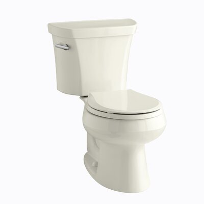 Wellworth Two-Piece Round-Front 1.28 GPF Toilet with Class Five Flush Technology, Left-Hand Trip Lever and Tank Cover Locks Finish: Biscuit