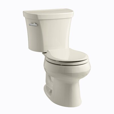 Wellworth 1.28 GPF Round Two-Piece Toilet Finish: Almond
