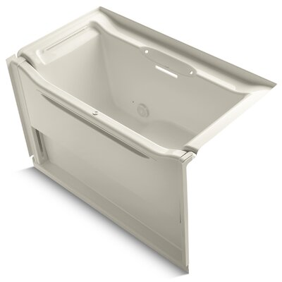 Elevance Rising Wall Alcove 60 x 34 Soaking Bathtub Finish: White, Drain Location: Right