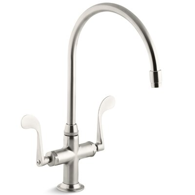 Essex Single-Hole Kitchen Sink Faucet with 9 Gooseneck Spout Finish: Vibrant Stainless