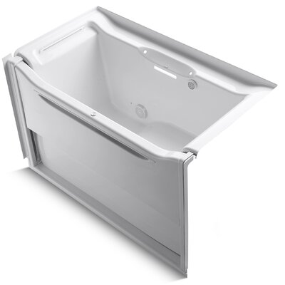 Elevance 60 x 34 Air Bathtub Finish: White