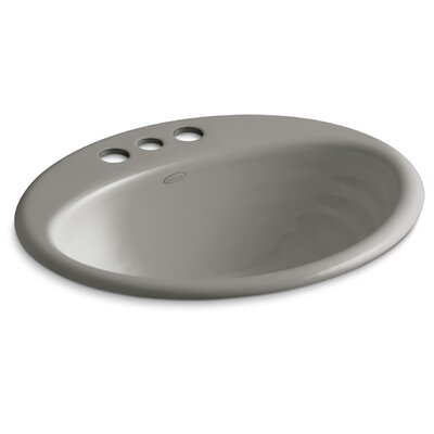 Ellington Self Rimming Bathroom Sink 4 Finish: Cashmere