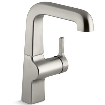 Evoke Single-Hole Kitchen Sink Faucet with 7 Spout Finish: Vibrant Stainless