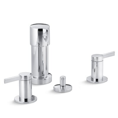Stillness Vertical Spray Bidet Faucet with Lever Handles Finish: Polished Chrome