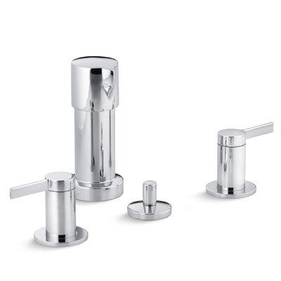 Stillness Vertical Spray Bidet Faucet with Lever Handles Finish: Polished Chrome