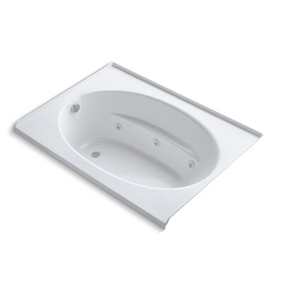 Windward Alcove 60 x 42 Whirpool Bathtub Finish: White