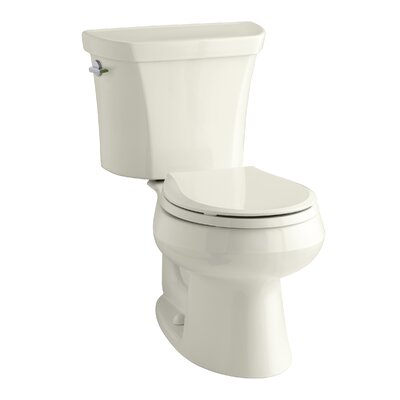Wellworth 1.6 GPF Round Two-Piece Toilet Finish: Biscuit