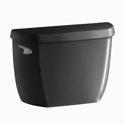 Wellworth Classic 1.28 GPF Toilet Tank with Class Five Flushing Technology and Left-Hand Trip Lever with Tank Locks Finish: Black Black