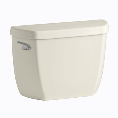 Wellworth Classic 1.28 GPF Toilet Tank with Class Five Flushing Technology and Left-Hand Trip Lever with Tank Locks Finish: Almond