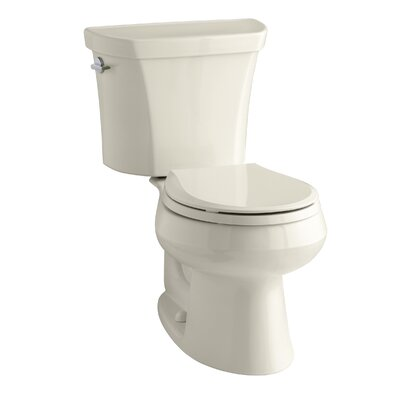 Wellworth 1.6 GPF Round Two-Piece Toilet Finish: Almond