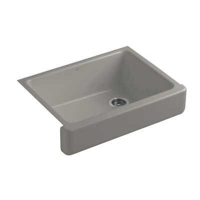 Whitehaven Self-Trimming 29-1/2 x 21-9/16 x 9-5/8 Undermount Single-Bowl Kitchen Sink with Short Apron Finish: Cashmere